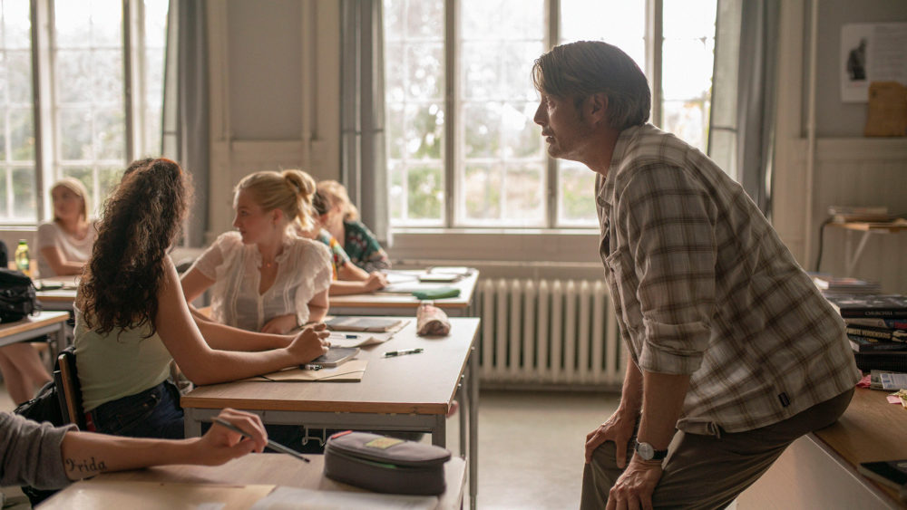 """Mads Mikkelsen (right) in """"Another Round."""" (Courtesy Samuel Goldwyn Films)"""