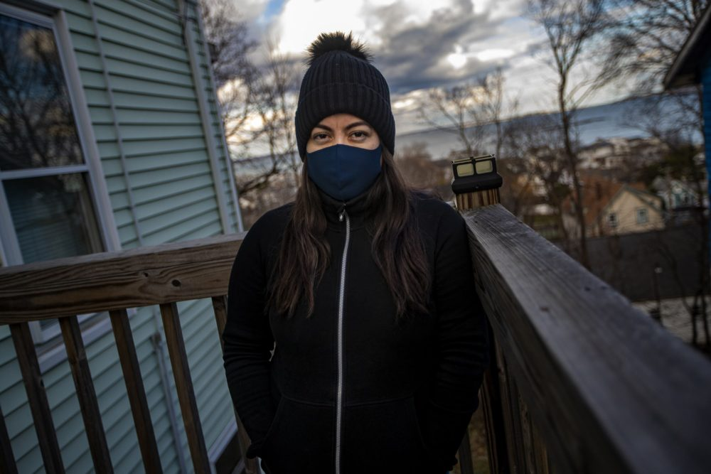 Madelyn Pineda-Alvarez contracted COVID-19, as did two of her children and her husband. Like many who catch the coronavirus, she may never know exactly how it infected her family. (Jesse Costa/WBUR)