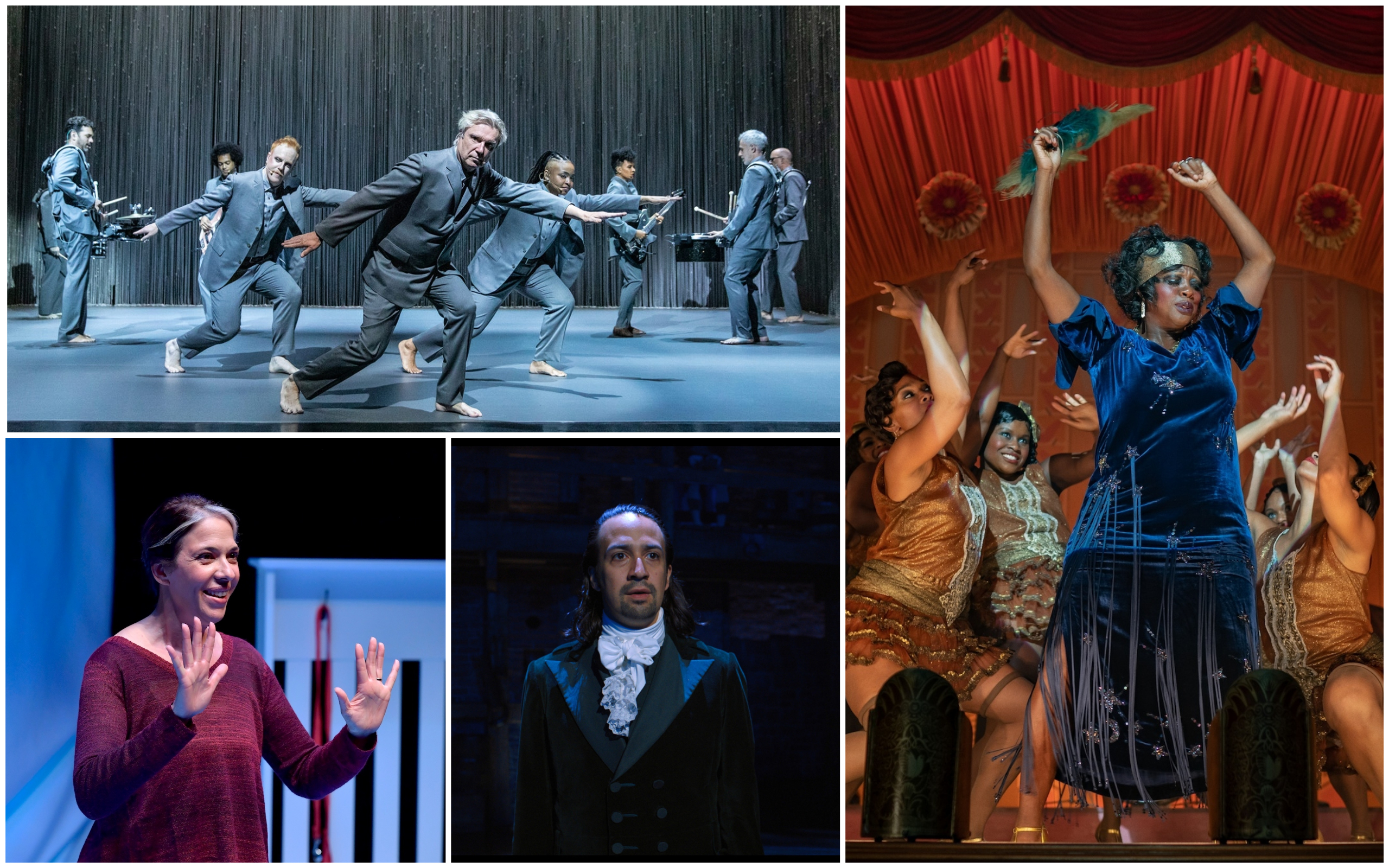 """Theater critics Jacquinn Sinclair and Ed Siegel selected their favorite theater productions from the year, including David Byrne's """"American Utopia,"""" """"Ma Rainey's Black Bottom"""" on Netflix, """"Mala"""" from the Huntington Theatre Company and """"Hamilton,"""" which is available to stream on Disney+. (Courtesy)"""