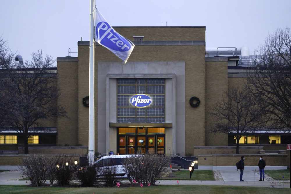 The Pfizer Global Supply Kalamazoo manufacturing plant is shown in Portage, Mich., Friday, Dec. 11, 2020. (Paul Sancya/AP)