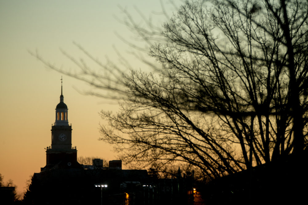 The Howard University Campus at sunrise in Washington, Saturday, Dec. 19, 2015. (Andrew Harnik/AP)