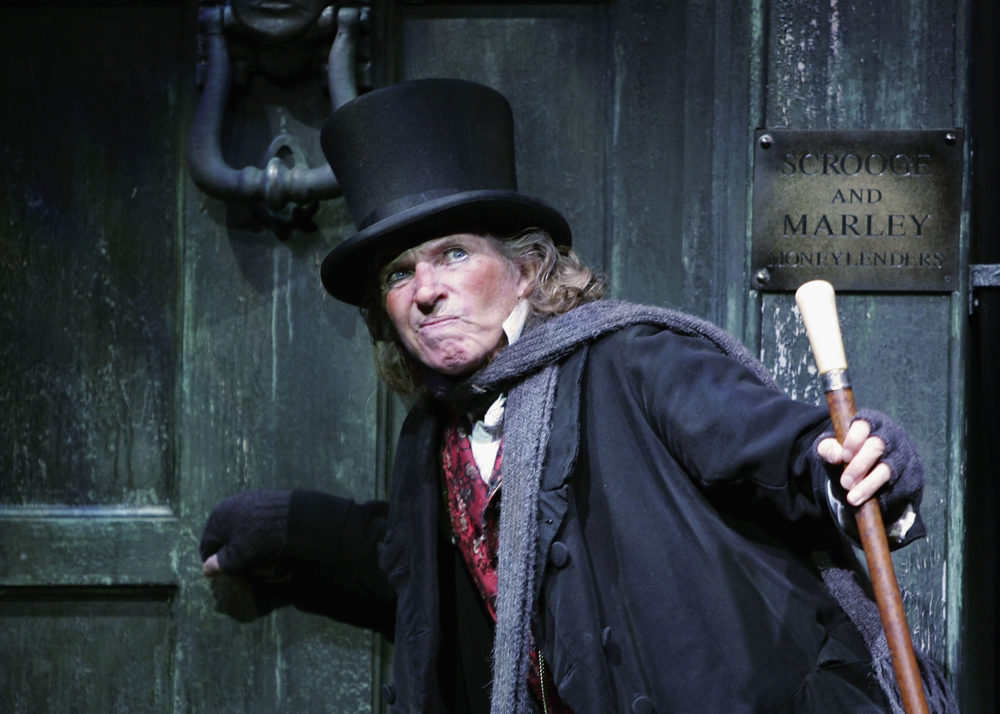 Actor Tommy Steele as Ebenezer Scrooge. (MJ Kim/Getty Images)