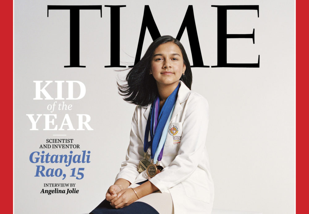 Gitanjali Rao on the cover of Time Magazine.