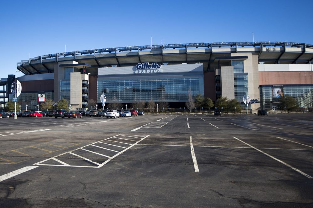Gillette Stadium. (Jesse Costa/WBUR)