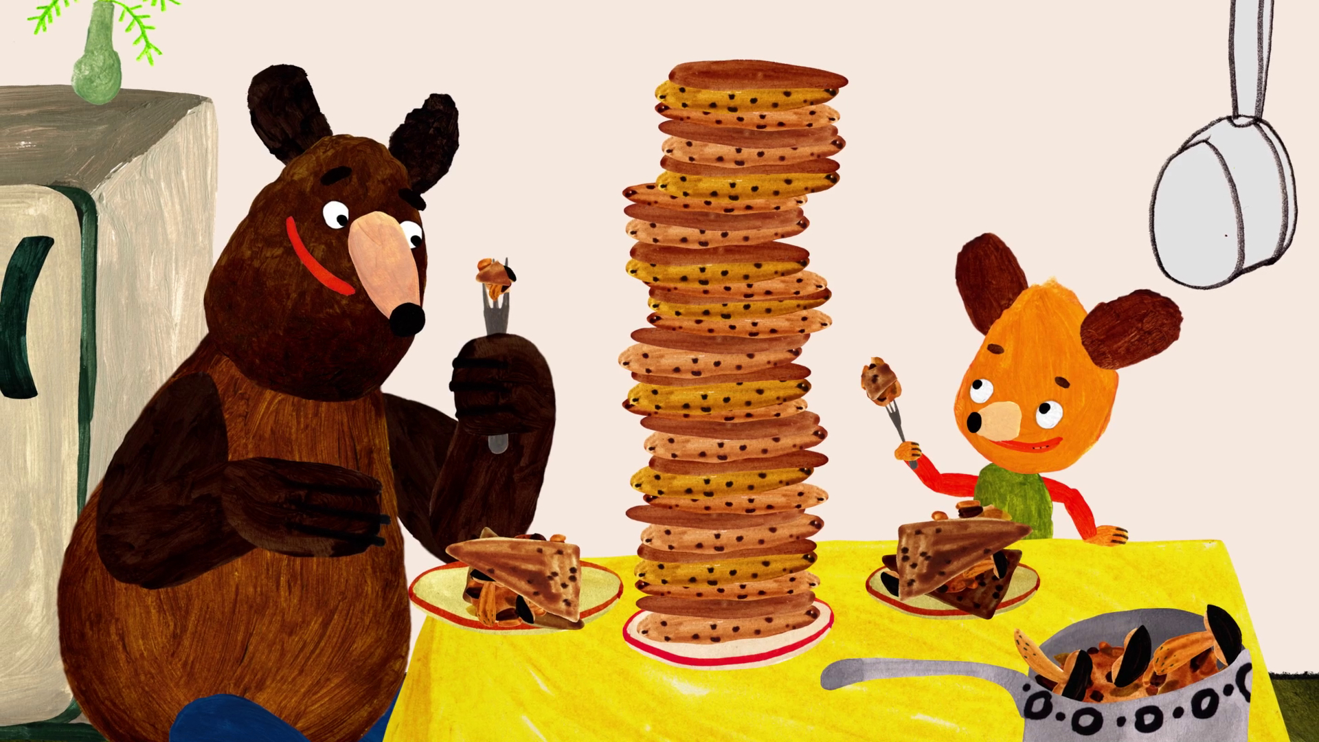 """A still from the short film """"Hungry Bear Tales."""" (Courtesy Belmont World Film)"""