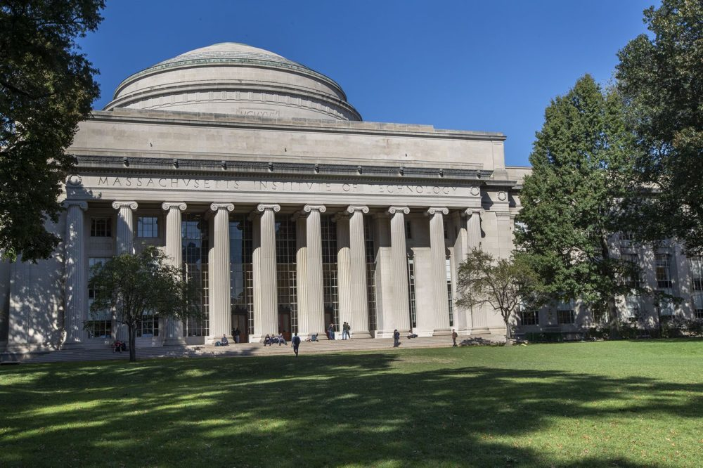 The Great Dome and Building 10 at the Massachusetts Institute of Technology in Cambridge. (Jesse Costa/WBUR)