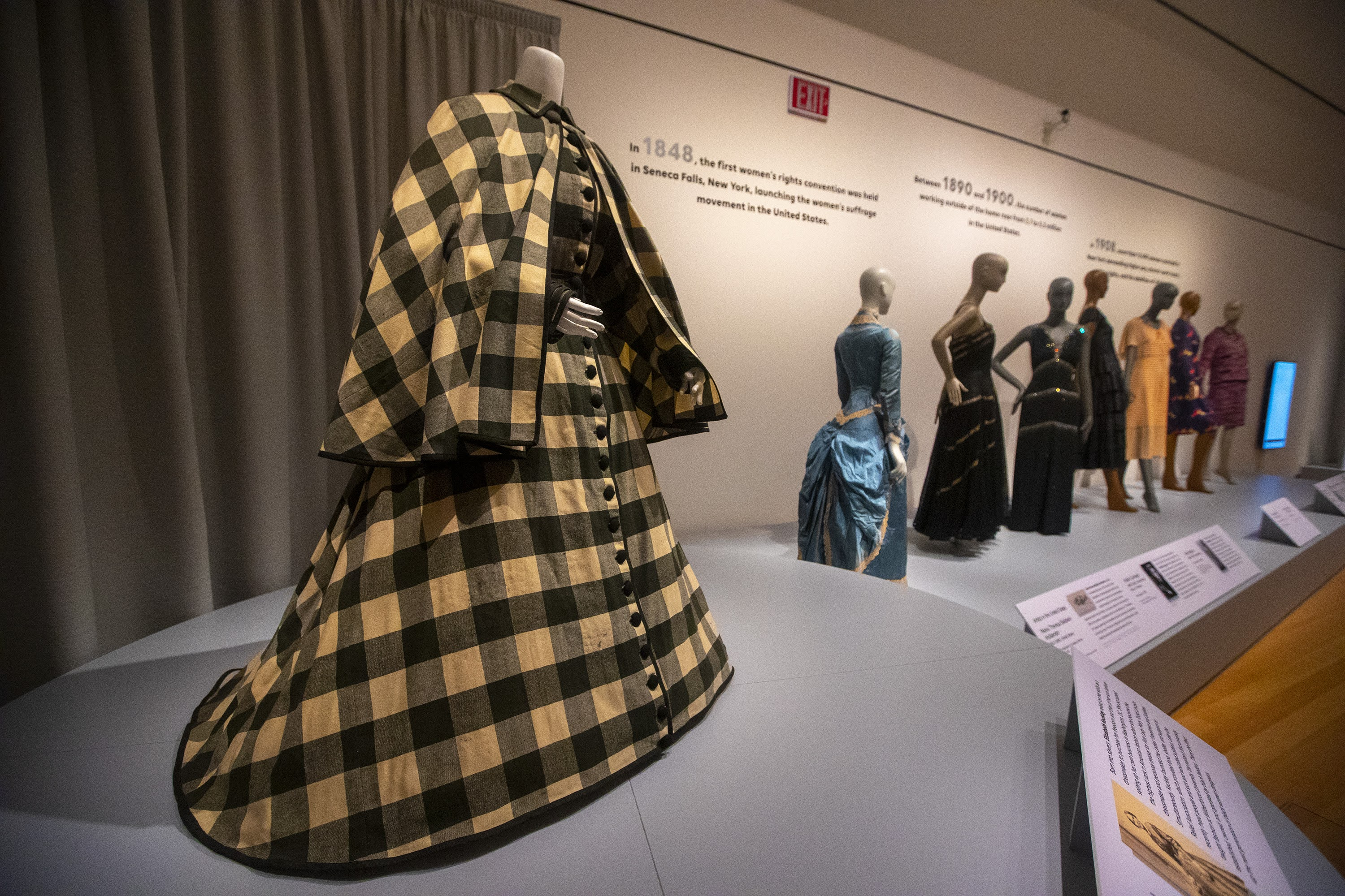 A dress probably attributed to Elizabeth Keckly which was worn by Mary Todd Lincoln from 1862-64. (Jesse Costa/WBUR)