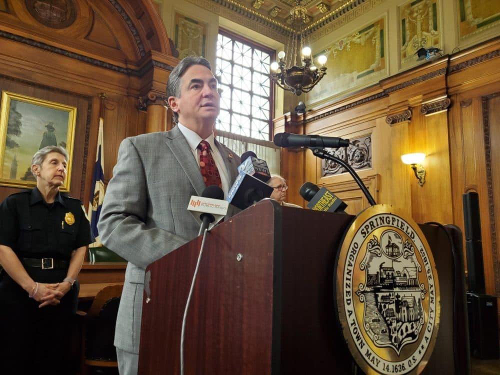 Springfield Mayor Domenic Sarno. (Adam Frenier/NEPM)