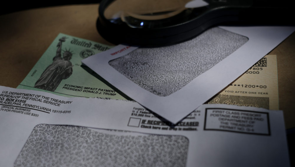 A stimulus check issued by the IRS. (Eric Gay/AP)