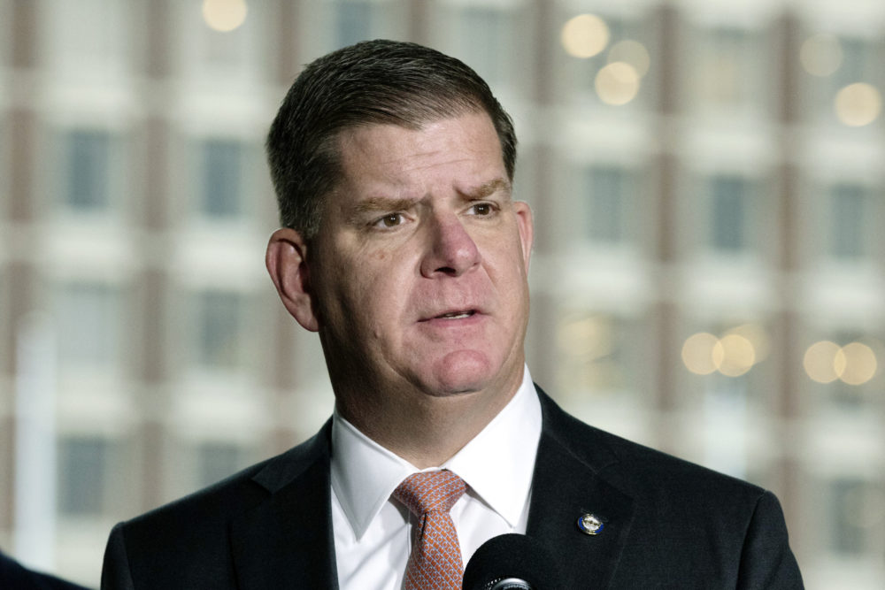 Boston Mayor Marty Walsh, as photographed on March 13, 2020. (Michael Dwyer/AP)
