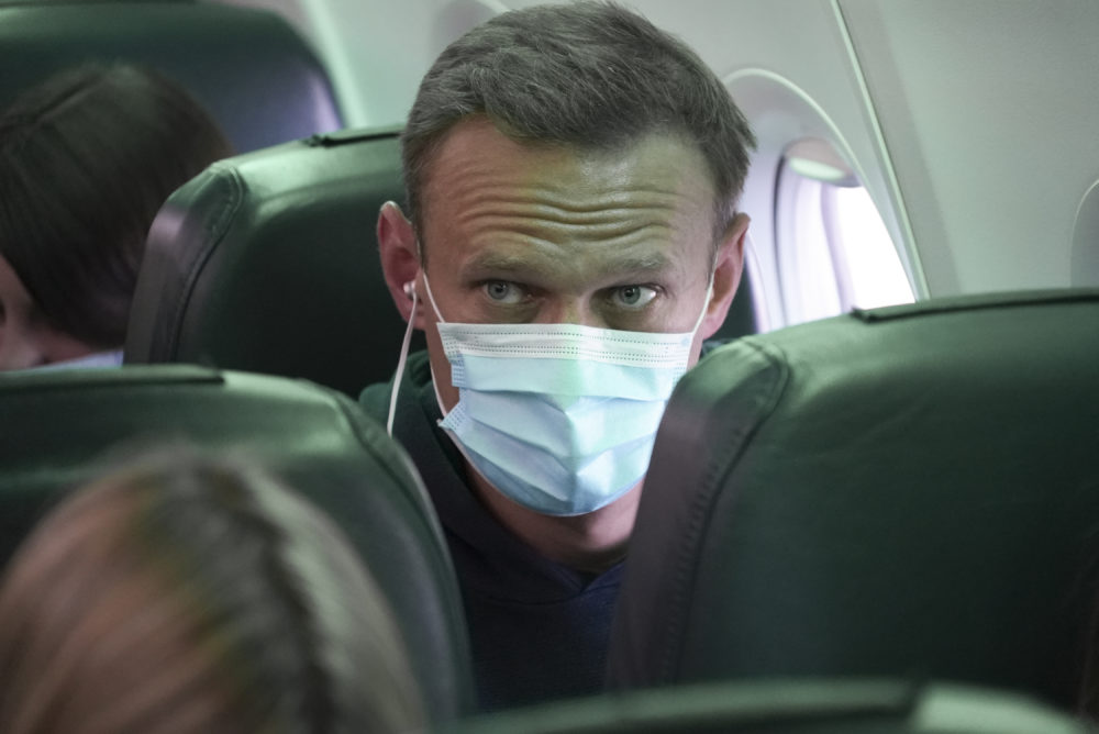 Leading Kremlin critic Alexei Navalny flew home to Russia on Sunday after recovering in Germany from his poisoning in August with a nerve agent. (Mstyslav Chernov/AP)