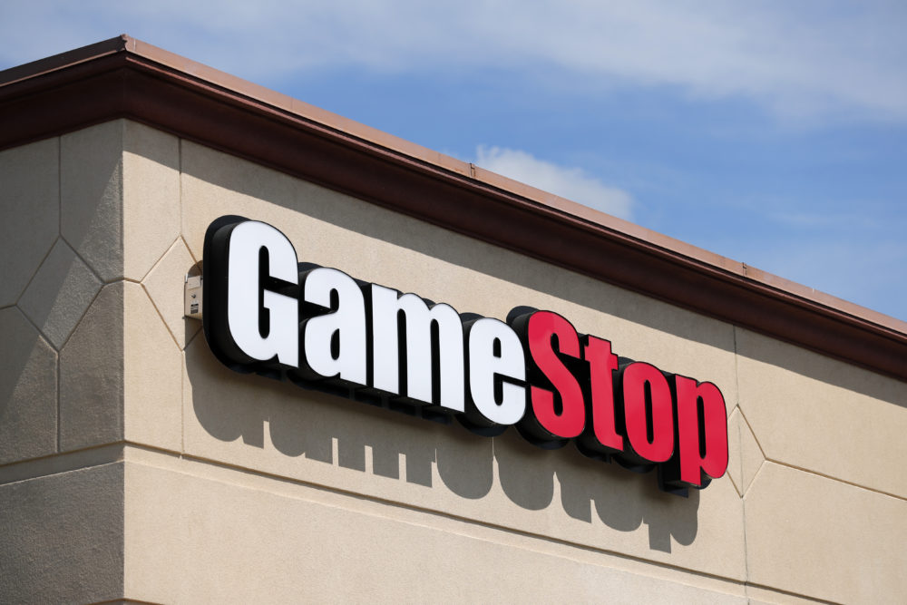In this May 7, 2020 file photo, a GameStop store is seen in St. Louis. (Jeff Roberson/AP File)