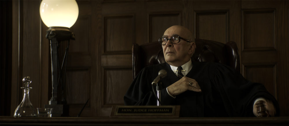 "Frank Langella as Julius Hoffman in ""The Trial of the Chicago 7."" (Niko Tavernise/Netflix)"