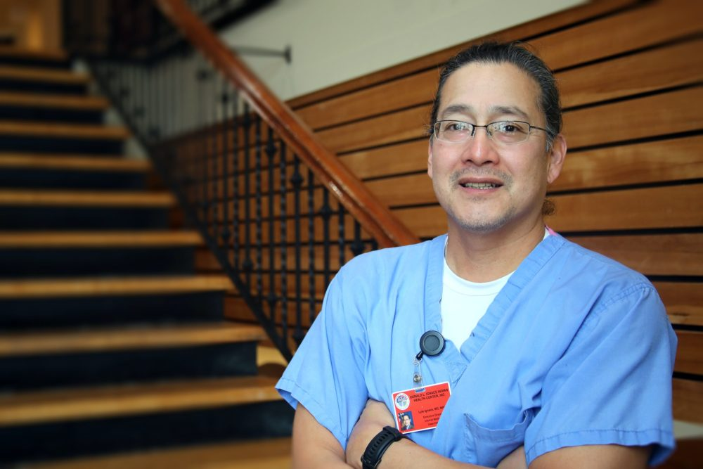 Dr. Lyle Ignace, a member of the Menominee and Coeur D'Alene tribes, became one of the first Native people in Milwaukee, Wisconsin, to receive the Pfizer andBioNTech vaccine. (Courtesy)