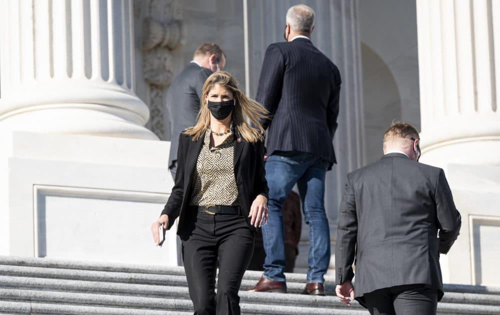 Rep. Lori Trahan, D-Mass., walks down the House steps on Nov. 20, 2020. (Bill Clark/CQ-Roll Call, Inc via Getty Images)