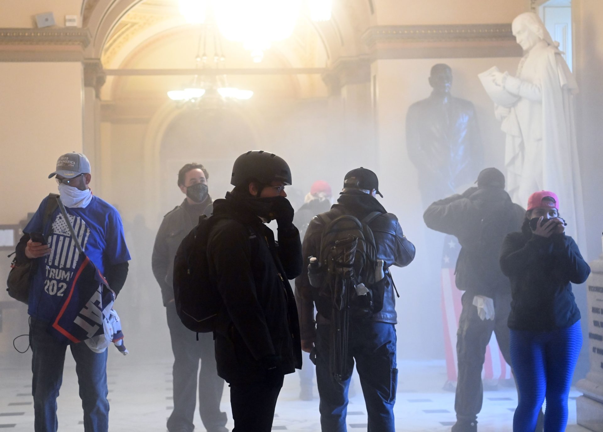 Demonstrators breached security and entered the Capitol. (Saul Loeb/AFP via Getty Images)