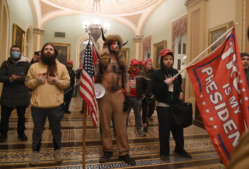 Supporters of U.S. President Trump enter the U.S. Capitol on Jan. 6 in Washington, D.C. (Saul Loeb/AFP via Getty Images)