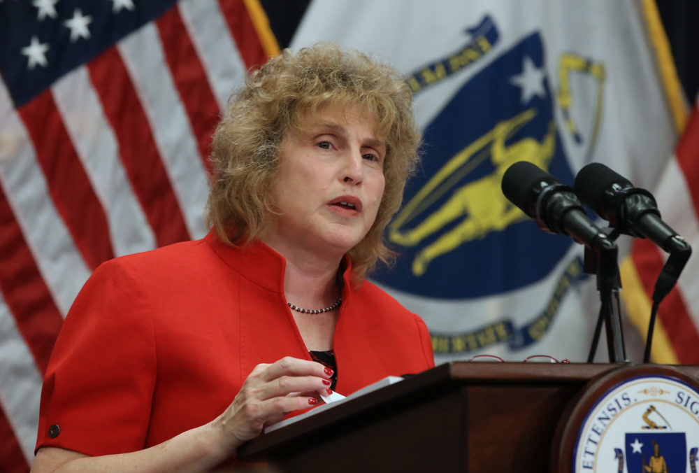 Massachusetts Secretary of Transportation Stephanie Pollack. (Nancy Lane/MediaNews Group/Boston Herald via Getty Images)