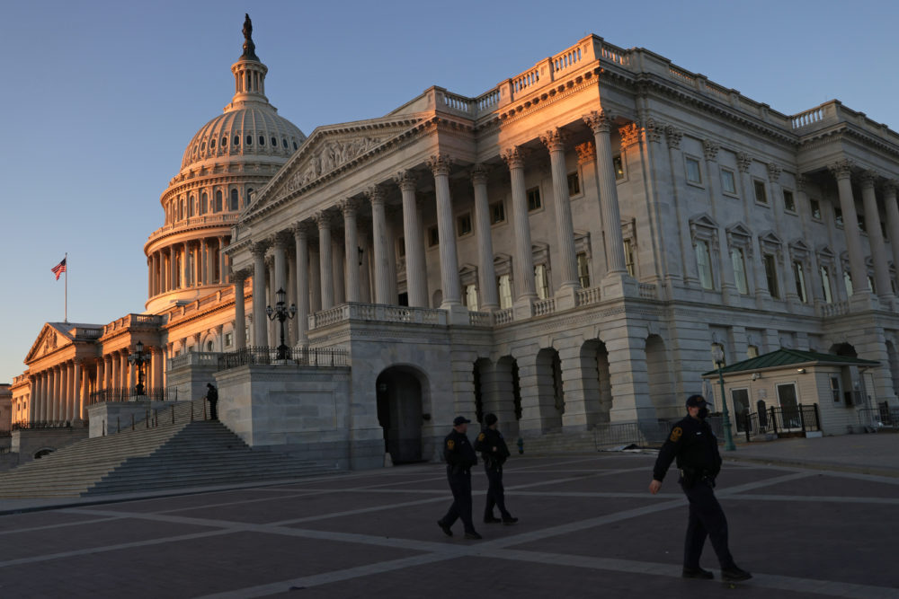 The U.S. Capitol is seen Jan. 7, 2021 in Washington, DC. ( Alex Wong/Getty Images)
