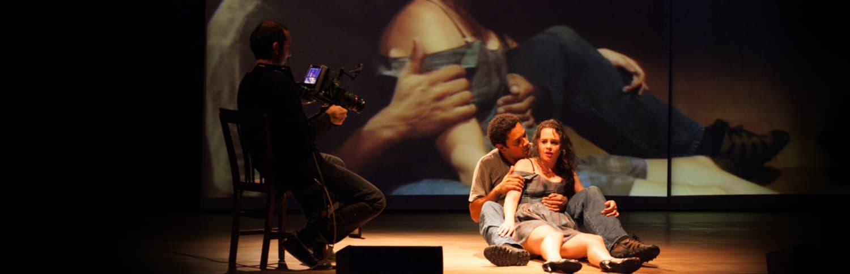 "Julia Bernat and Rodrigo dos Santos in ""Julia,"" a Brazilian adaption of ""Miss Julie,"" presented by ArtsEmerson. (Courtesy)"