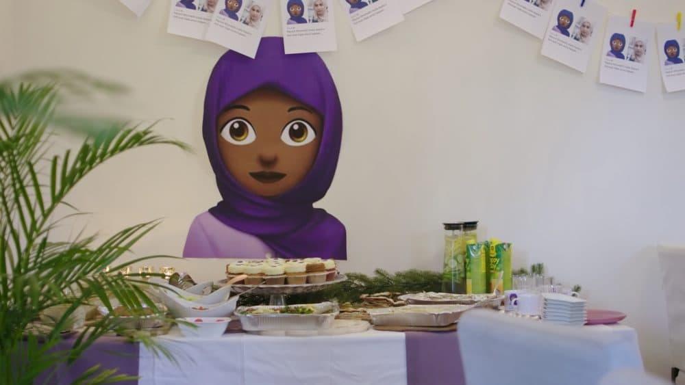 The purple hijab emoji. (Lucy Martens)