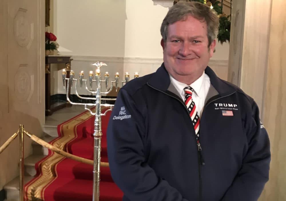 Tom Mountain at the White House Hanukkah event on Dec. 9, 2020. (Courtesy Tom Mountain)