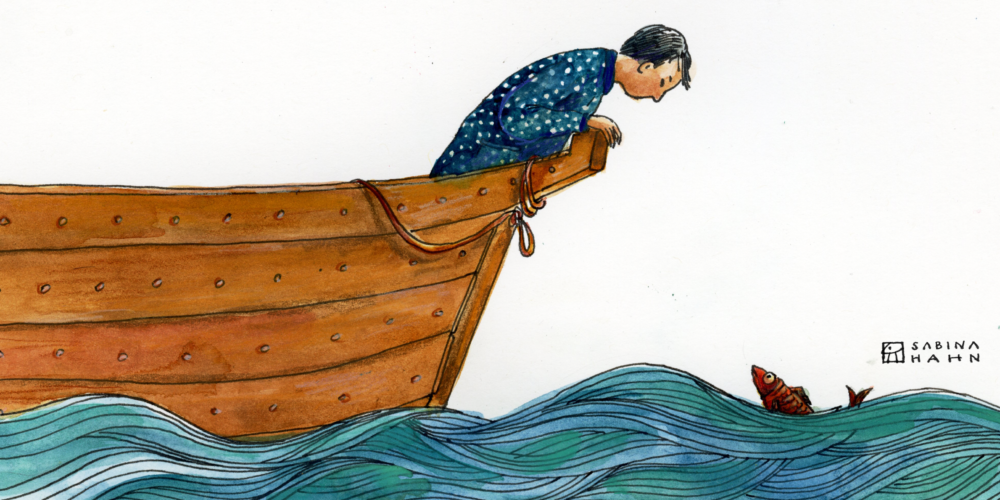 """(""""The Fishermen's Leftovers"""" by Sabina Hahn)"""