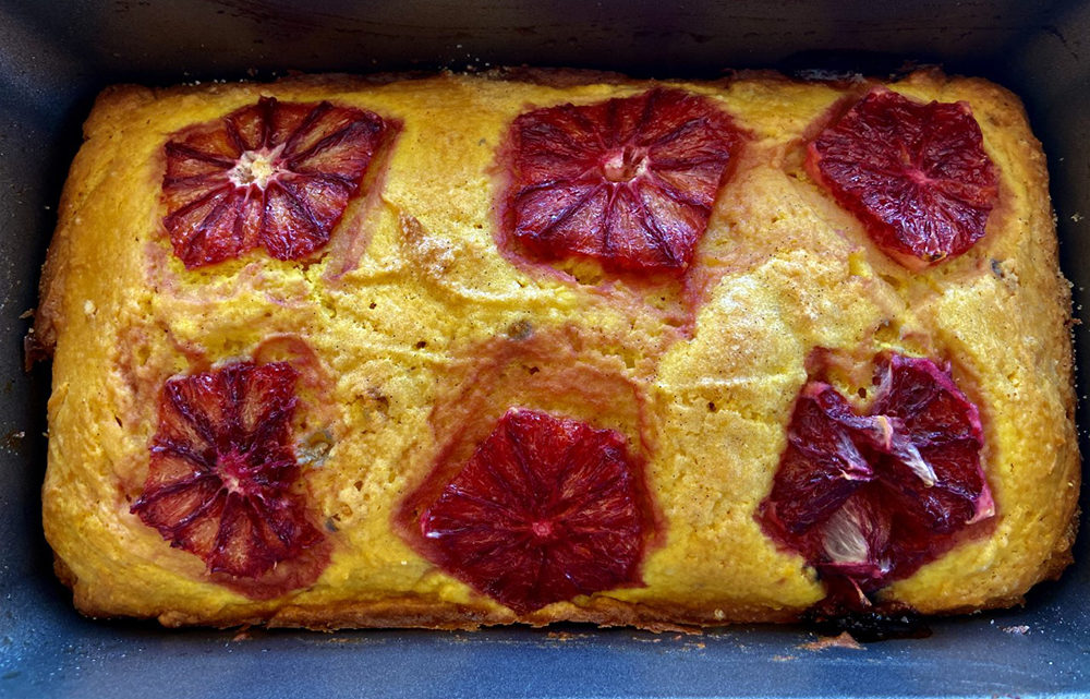 Turmeric-Ginger Blood Orange Cake (Kathy Gunst)