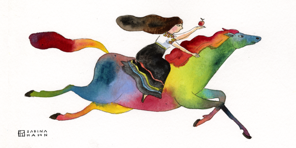 "(""The Horse of a Different Color"" by Sabina Hahn)"