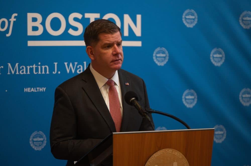 Boston Mayor Marty Walsh on Feb. 1, 2021. (Courtesy Jeremiah Robinson/Mayor's Office)