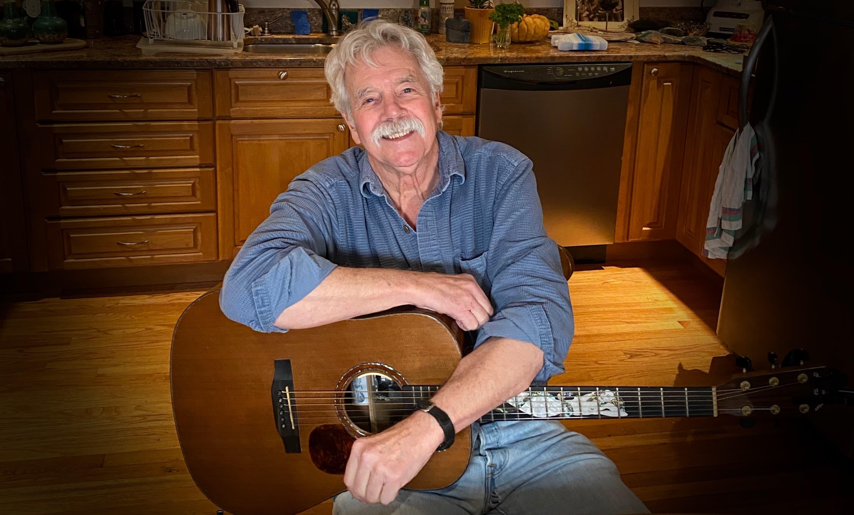 Singer-songwriter Tom Rush in his kitchen in Kittery, Maine. (Courtesy Karen Gilligan)