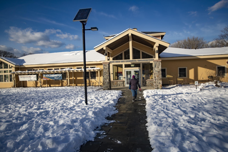The Audubon Boston Nature Center in Mattapan. (Jesse Costa/WBUR)