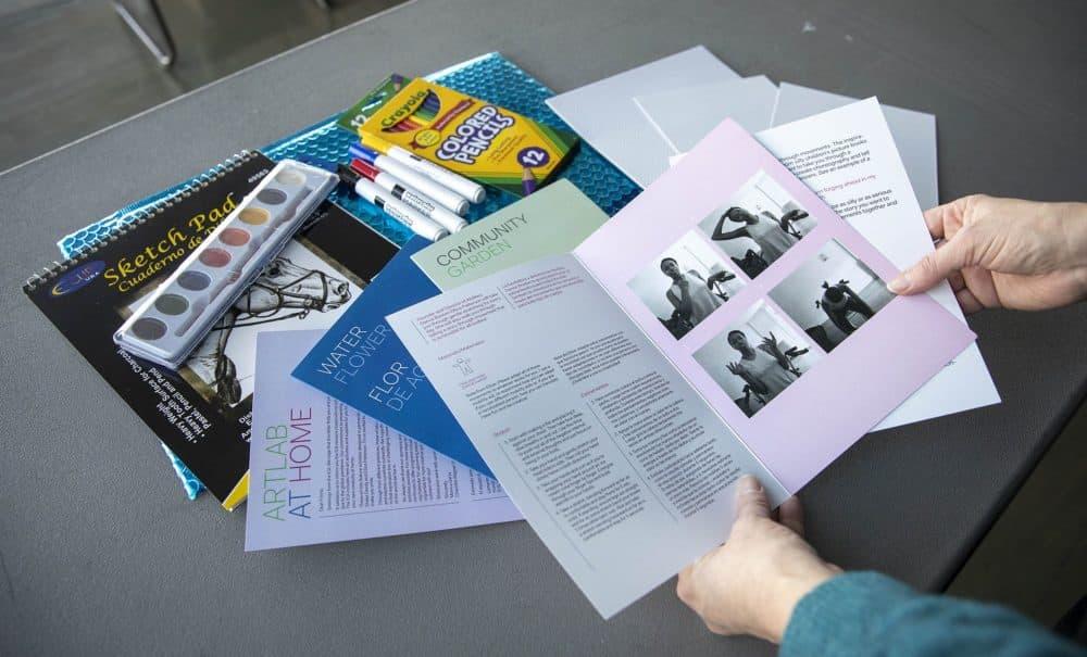 The ICA art kits. (Robin Lubbock/WBUR)