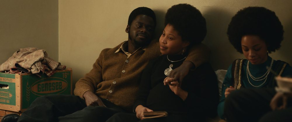 "Left to right: Daniel Kaluuya and Dominique Fishback in ""Judas and the Black Messiah."" (Courtesy Warner Bros. Pictures)"