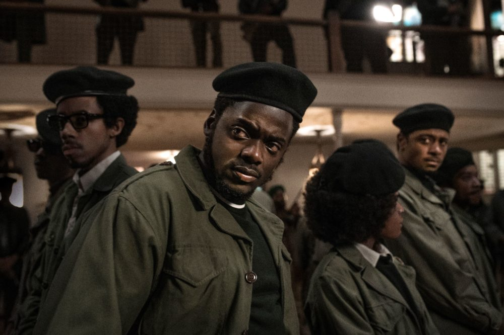 "Left to right: Darrell Britt-Gibson, Daniel Kaluuya and LaKeith Stanfield in ""Judas and the Black Messiah."" (Courtesy Warner Bros. Pictures)"