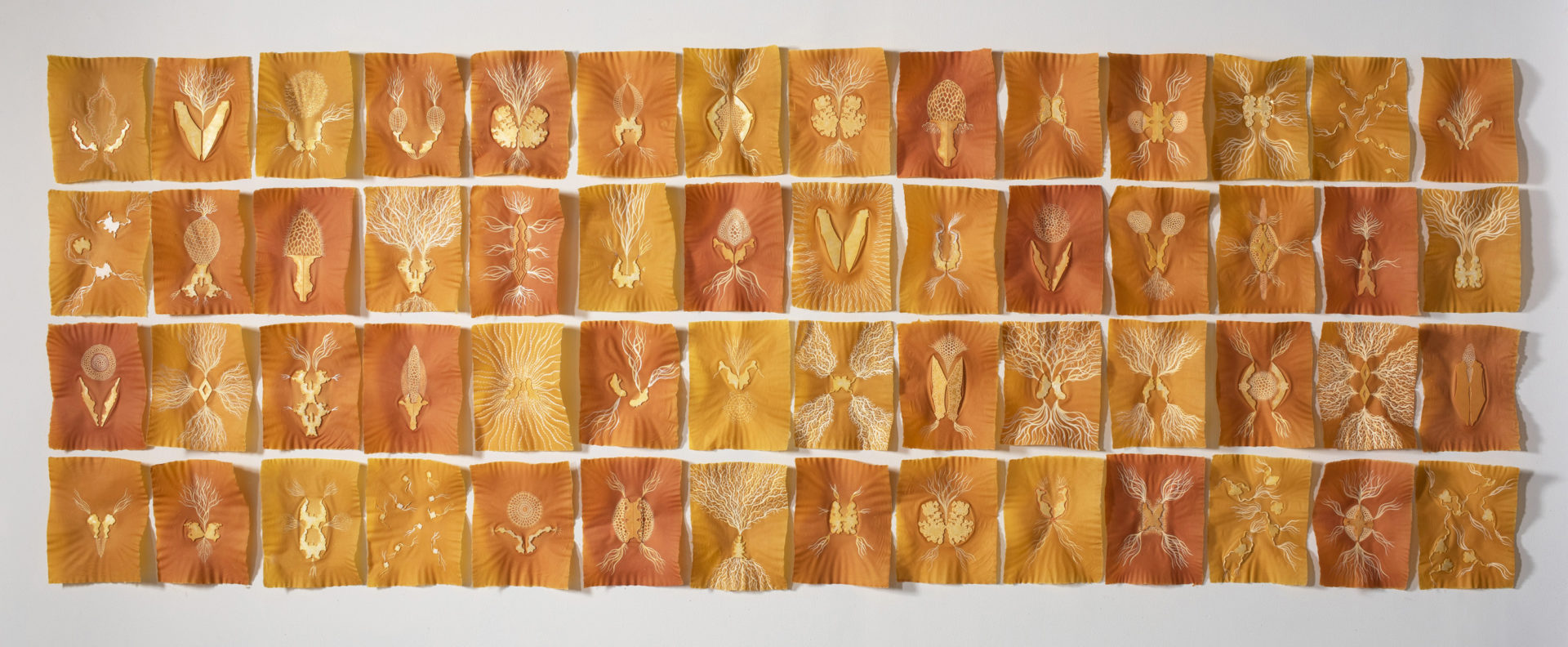 """Michelle Samour, """"Land of Milk and Honey: Stuck,"""" 2020. (Courtesy Fuller Craft Museum)"""
