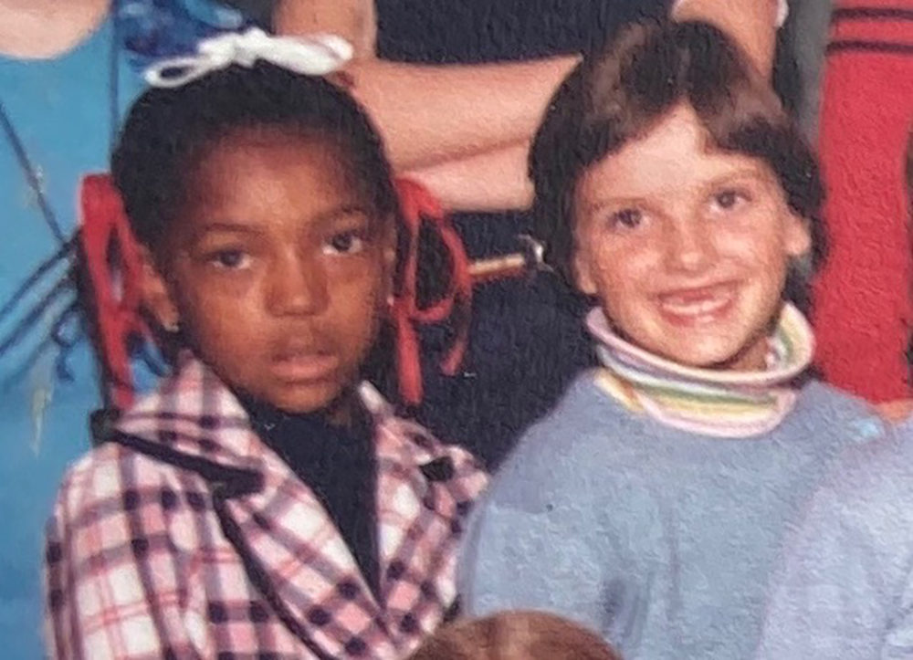 Gloria Harrison and Carrie Clifford as third grade classmates in the early 80s in Wayland. (Courtesy photo)
