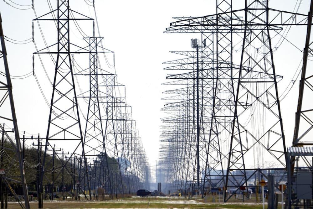 Power lines are shown in Houston. (AP Photo/David J. Phillip)