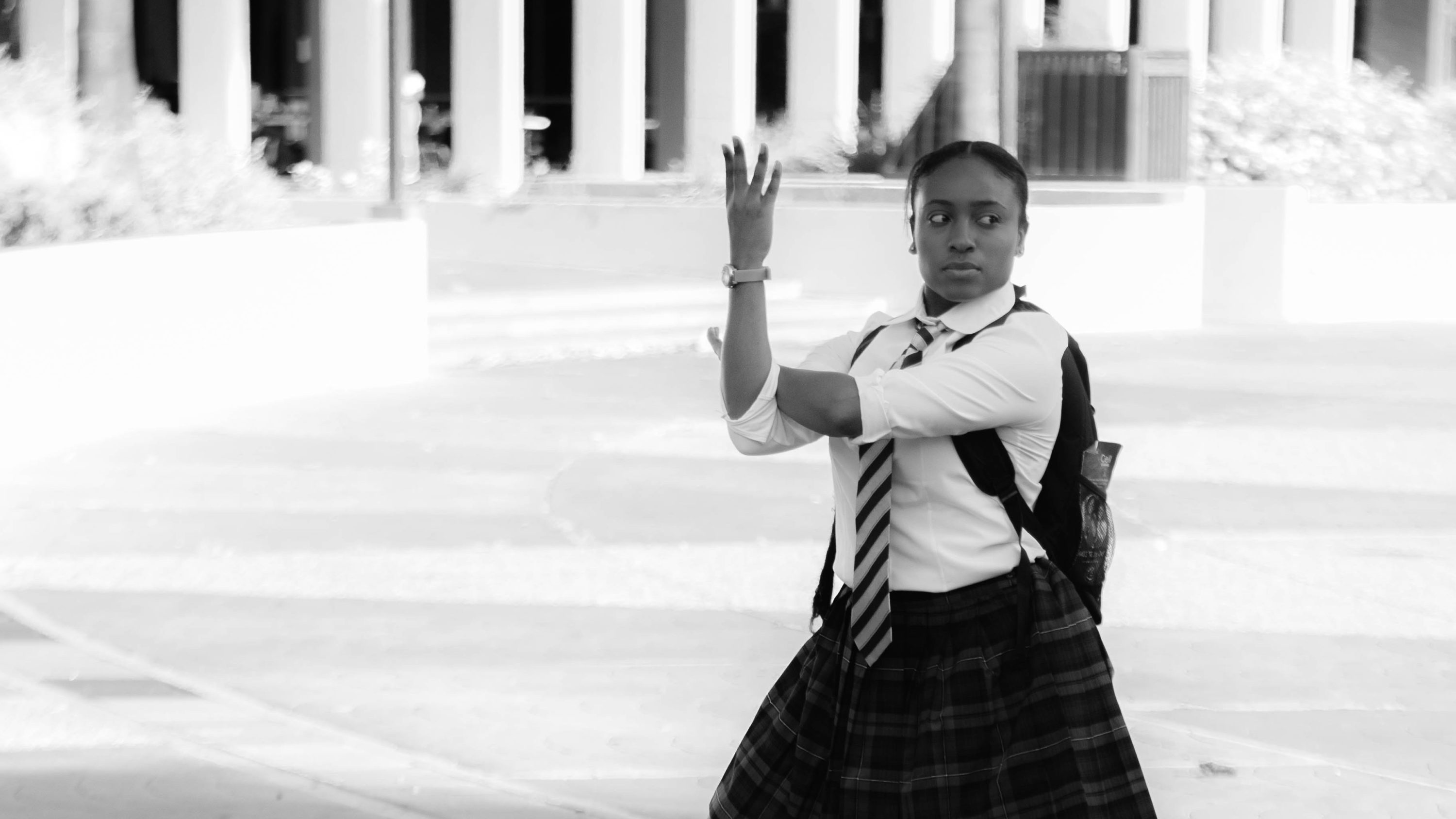 """Black Kung Fu Chick"" was created by Emerson professor Rae Shaw. She's played by Taylor Polidore. (Courtesy Mikayla Gamble)"