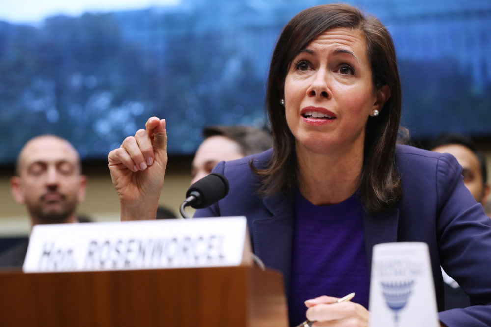Federal Communication Commission Commissioner Acting Chairwoman Jessica Rosenworcel. (Chip Somodevilla/Getty Images)