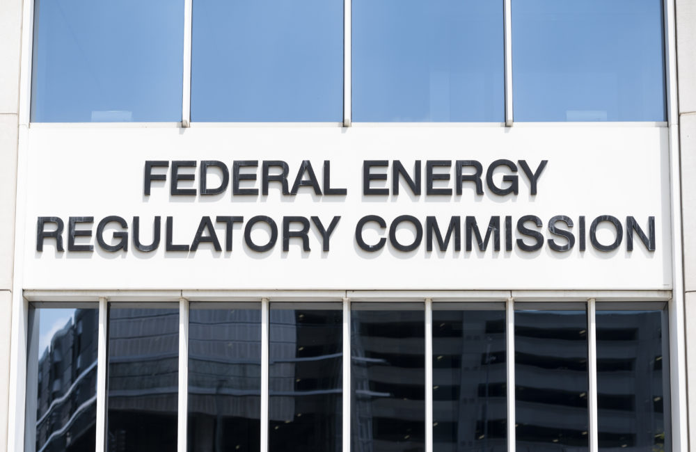 Federal Energy Regulatory Commission sign in Washington. (Bill Clark/CQ-Roll Call, Inc via Getty Images)