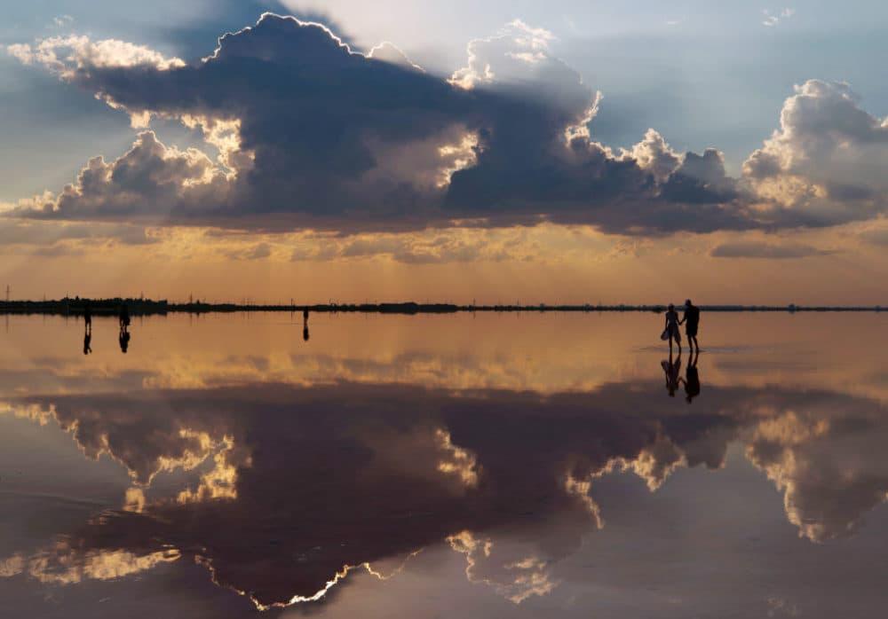 CRIMEA, RUSSIA - AUGUST 22, 2020: A view of Lake Sasyk during the 2020 Crimean Fashion Week. Sergei Malgavko/TASS (Photo by Sergei MalgavkoTASS via Getty Images)