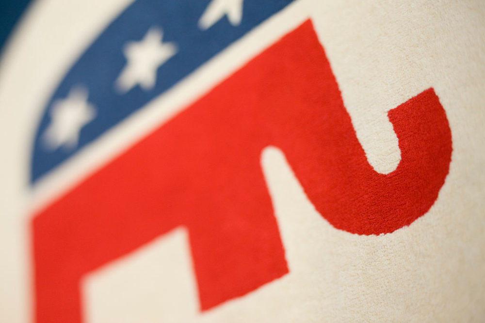 The elephant, a symbol of the Republican Party, in the lobby of the Republican Party's headquarters in Washington, D.C. (Brooks Kraft LLC/Corbis via Getty Images)