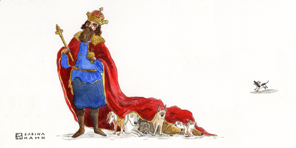 """(""""All The King's Dogs"""" by Sabina Hahn)"""