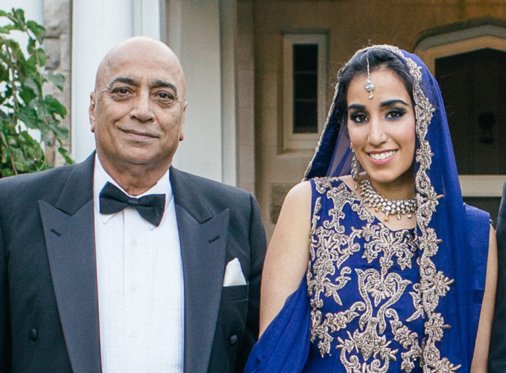 Salman Wasti and his daughter Noreen Wasti, pictured at Noreen's wedding in Bristol, Rhode Island, in Sept. 2013. (Courtesy)