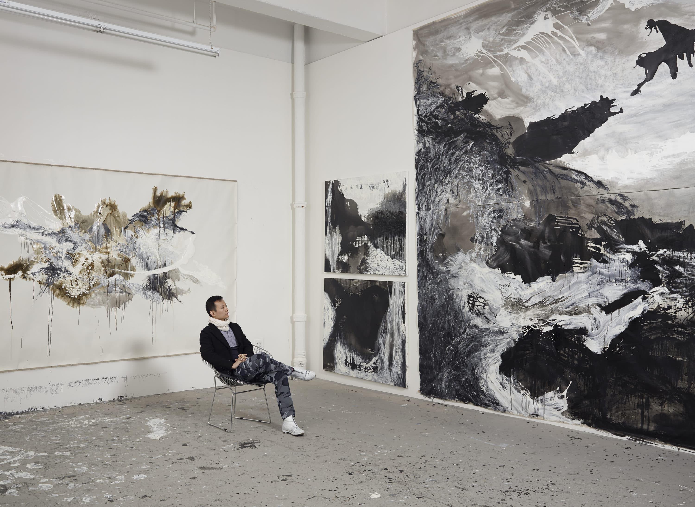 Artist Shen Wei in his New York studio in 2014. (Courtesy Jeffrey Sturges)