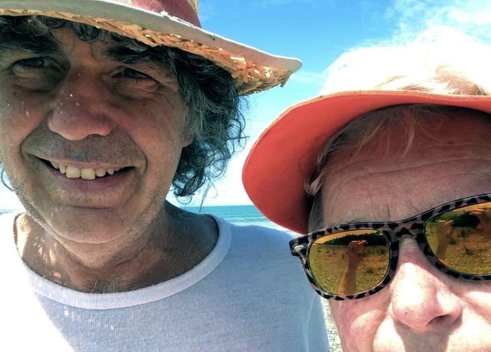 Carol Clapp and her boyfriend Al, in a self-portrait. (Courtesy of Carol Clapp)
