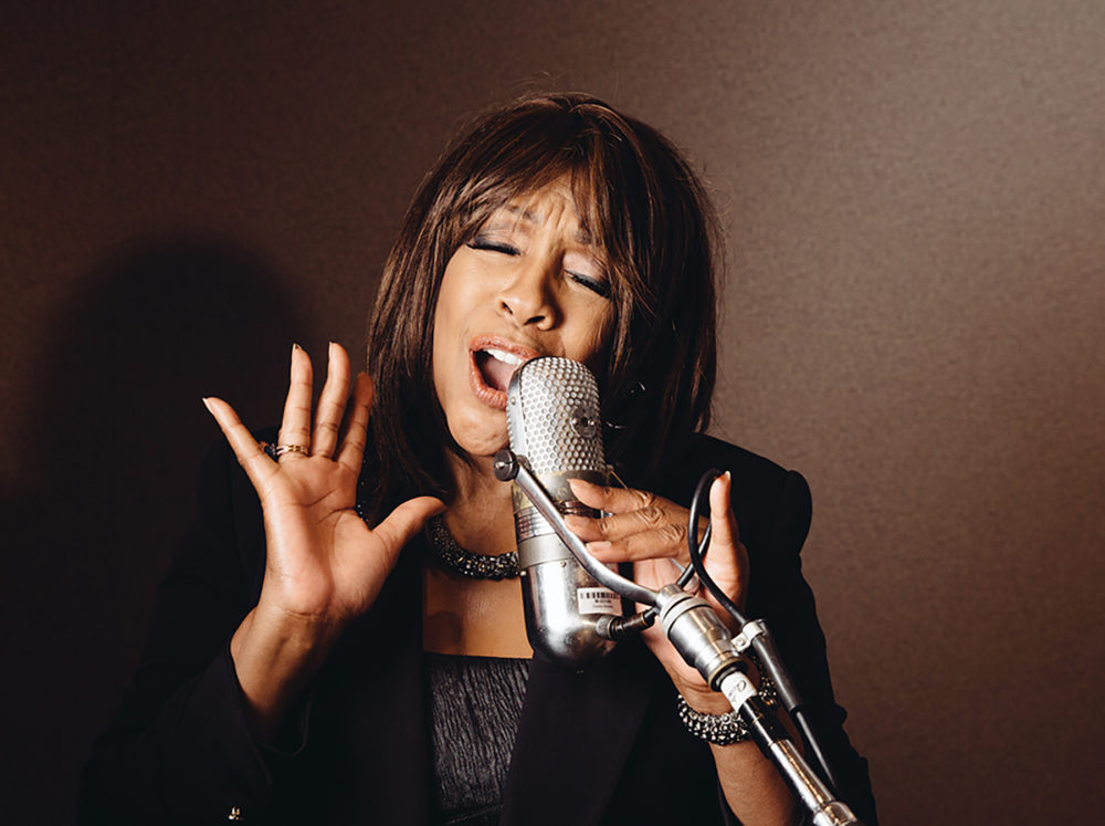 Mary Wilson, founding member of The Supremes, poses in a studio of the Capitol Records building on June 12, 2014, in the Hollywood. (Casey Curry/Invision/AP)