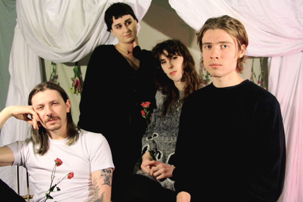 Left to right, the members of the band SEED: Jack Whelan, Lux Lucidi, Chelsea Ellsworth and Tony Tibbetts. (Courtesy Hope Antonellis)