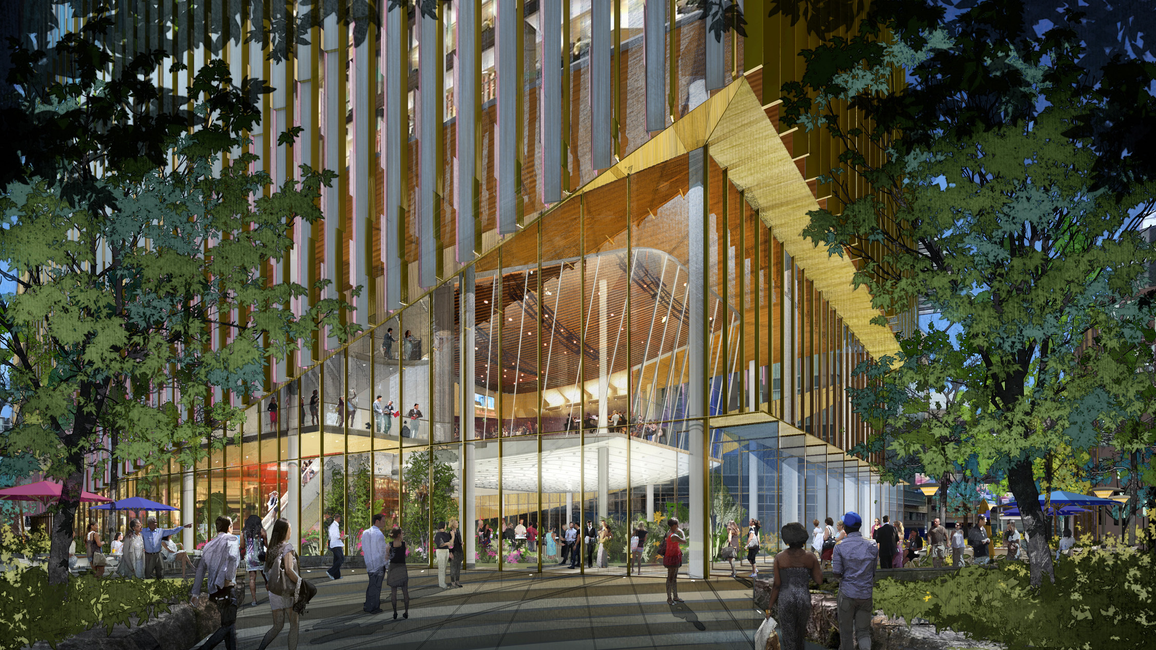 A rendering of 585 Arts. (Courtesy CBT Architects)
